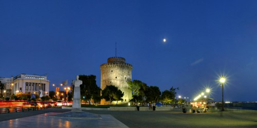 Thessaloniki by night at Le Palace art hotel